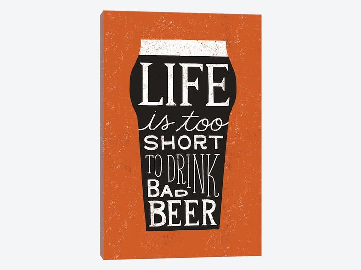 Craft Beer I by Michael Mullan Canvas Print 26″ L x 40″ H x 0.75″ D