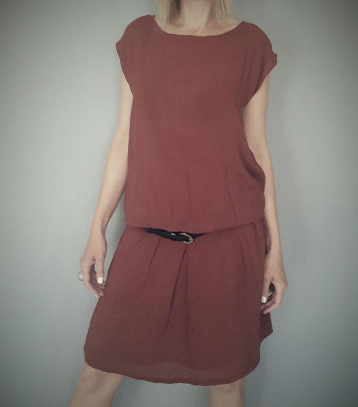 elastic rust cotton dress.#kaboofashion