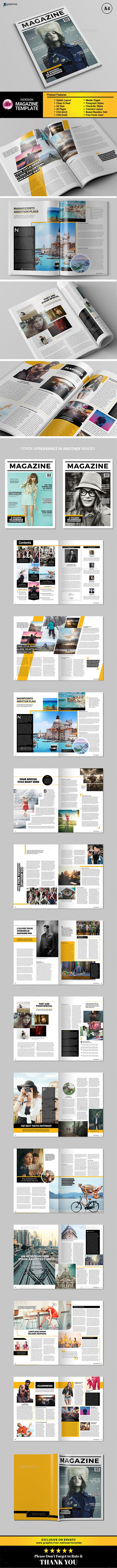 Magazine Template InDesign INDD. Download here: http://graphicriver.net/item/indesign-magazine-vol3/16198409?ref=ksioks