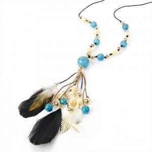 Colier Lung cu Pene Friday Morning - Accesorii Online - Jewelry-Box.ro