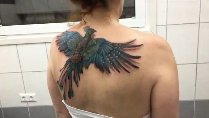Ilusión óptica en la piel – ¡Tatuaje en la espalda de la mujer comienza a volar! | Planeta CuriosoIlusión óptica en la piel – ¡Tatuaje en la espalda de la mujer comienza a volar! – Planeta Curioso