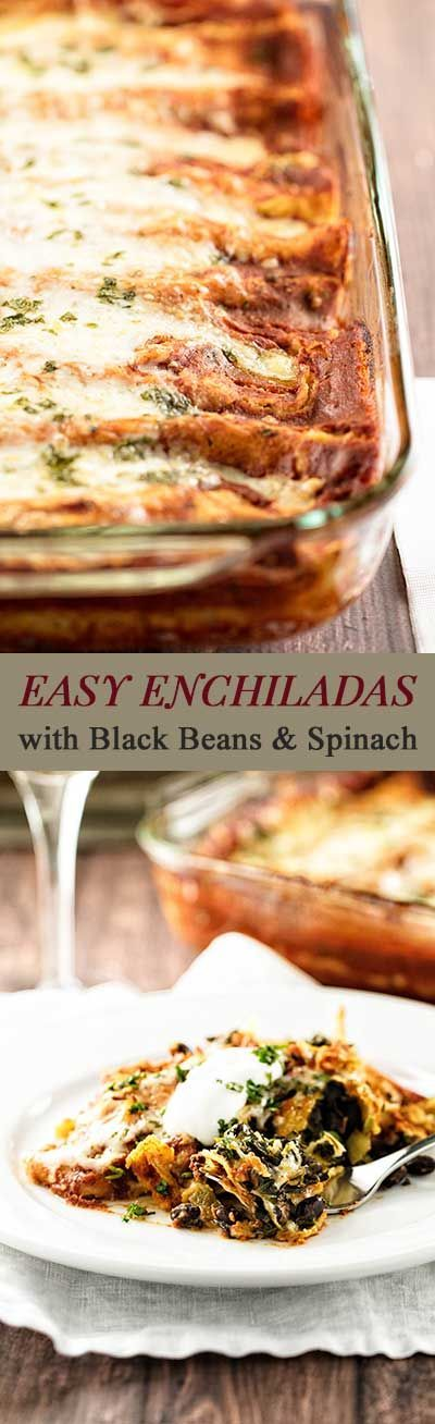 Smart shortcuts make these enchiladas easy enough for a weeknight dinner! | girlgonegourmet.com