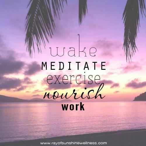 Morning routine!