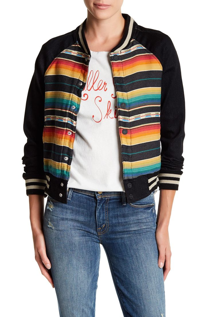Multi-Color Snap Letterman Jacket by MOTHER