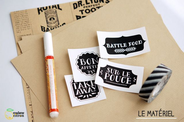 food labels DIY packaging - madame citron