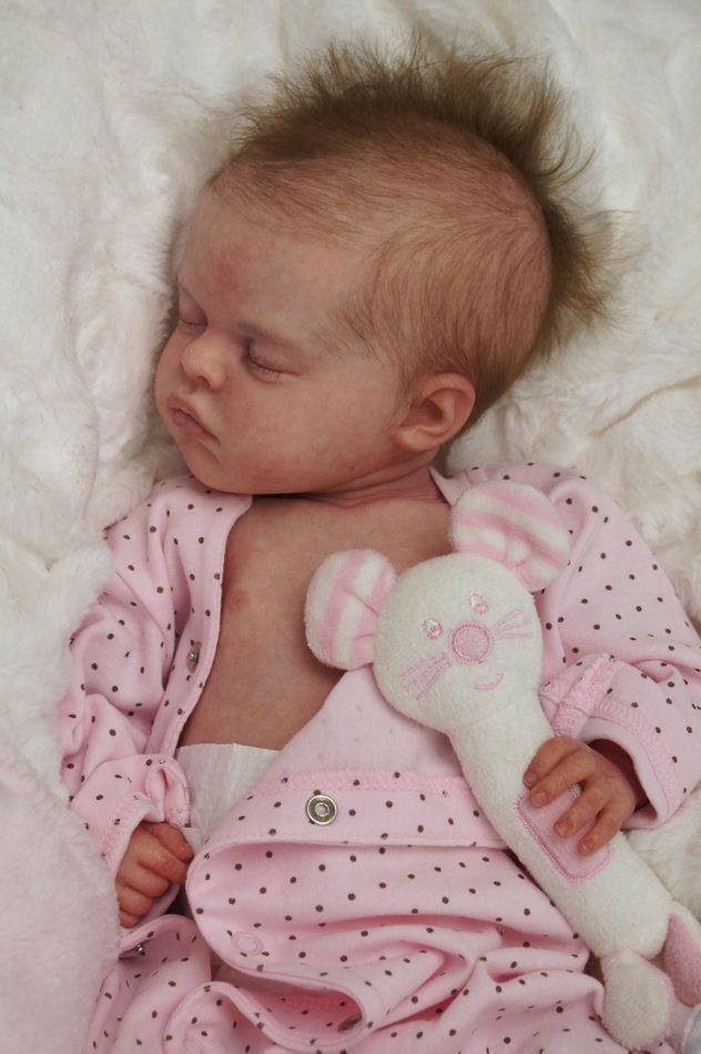 Reborn Baby Doll Rebornbaby Girl Mono Rooted Hair Coco By