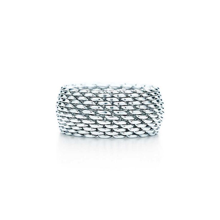 Tiffany Somerset™ ring in sterling silver, wide. | Tiffany & Co. been wanting this ring for years and never got it.