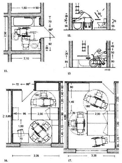 Дома для инвалидов. Строительное проектирование. Эрнст Нойферт, Bauentwurfslehre. Ernst Neufert