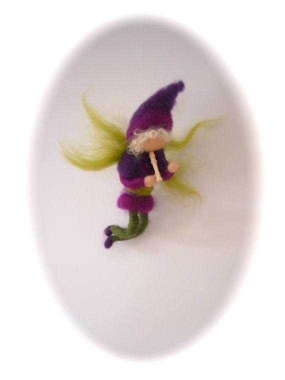 Fairy boy  Needle Felted   Elf   Waldorf by FilzArts on Etsy, $25.00