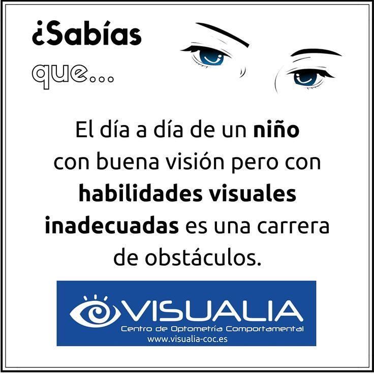 ¿Sabías que el día a día de un niño con buena visión pero con habilidades visuales inadecuadas es una carrera de obstáculos? Nosotros podemos ayudarte a detectar si es el caso de tu hijo/a. #Optometría #TerapiaVisual #Visualia  http://www.visualia-coc.es/