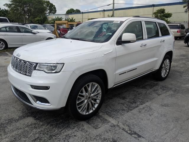 Salvage 2018 Jeep Grand Cherokee Summit Work Truck Car Auctions