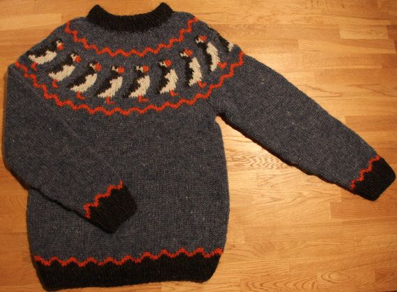 Icelandic wool sweater. Lopapeysa. Handmade. by KnittingArtLadies