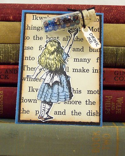 Alice in Wonderland Artist Trading Card by PisforPaper, via Flickr