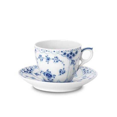 Coffee Cup with Saucer, Blue Fluted Half Lace, Royal Copenhagen - from my parents, Xmas 2012.