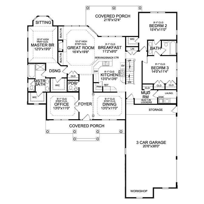 Thehousedesigners 4968 Construction Ready Craftsman Ranch House Plan With Walkout Basement Foundation 5 Printed Sets Walmart Com In 2020 Craftsman Ranch House Plans Ranch House Plan
