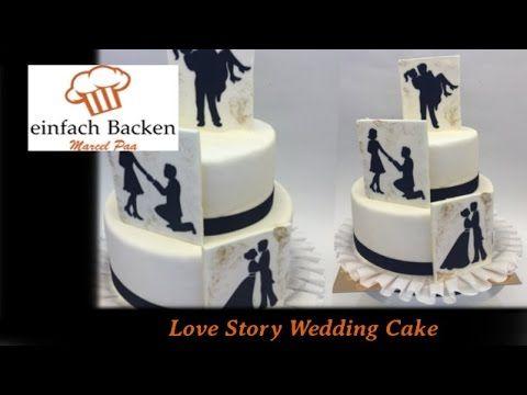 Hochzeits-Torte mit süßer Liebesgeschichte/ love Story Wedding Cake - von einfachBacken Schweiz - YouTube