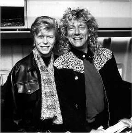 Music Makers. David Bowie and Robert Plant.