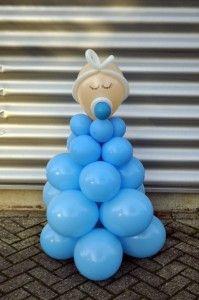 Baby ballon decoraties voor een jongen voor een babyshower of babyborrel te koop via www.ballondecoratietilburg.nl