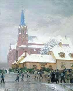 Jesu Hjerte Kirke i Stenogade før 1926. Af Tom Peter Thomsen.