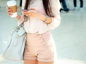 .: Outfits, Style, Pale Pink, Cute Shorts, Buttons, Pastel Colors, Highwaist, Bags, High Waist Shorts