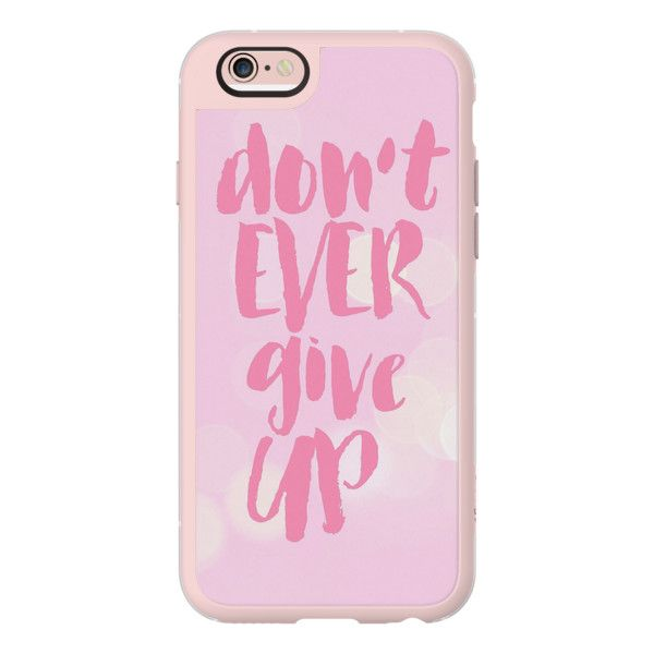 iPhone 6 Plus/6/5/5s/5c Case - Dont Ever Give Up Breast Cancer... ($40) ❤ liked on Polyvore featuring accessories, tech accessories, phone cases, iphone case, iphone cover case, iphone cases, iphone hard case and apple iphone cases