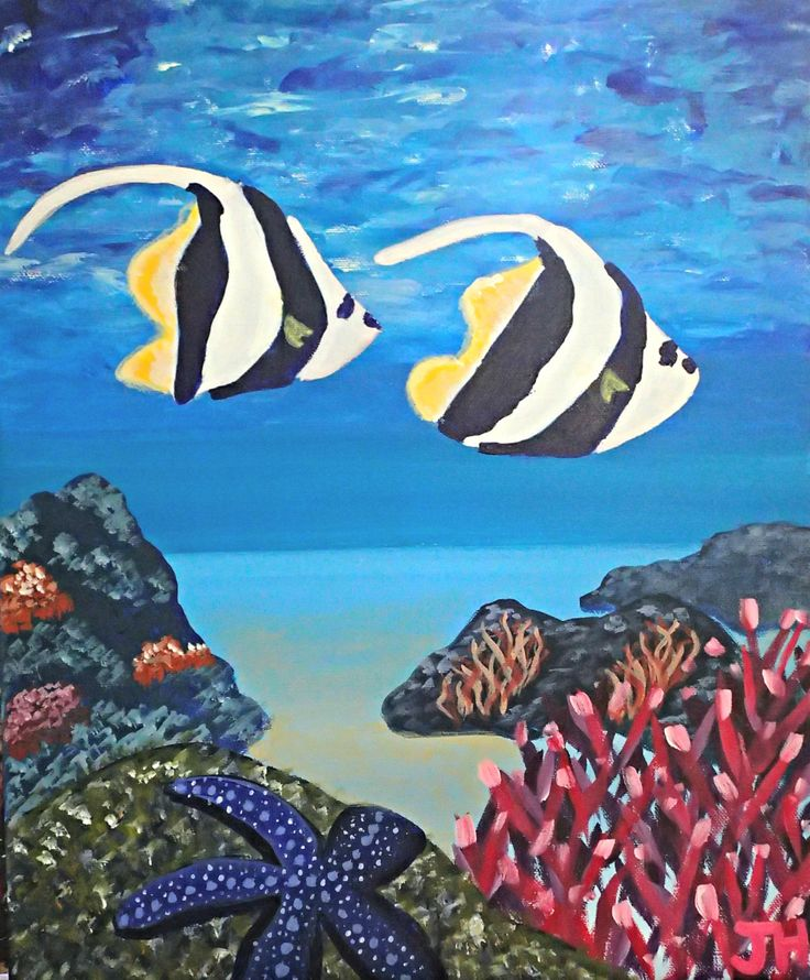Bathroom Wall Art Canvas Artwork Nautical Coral Reef Ocean: 25+ Best Ideas About Coral Painting On Pinterest