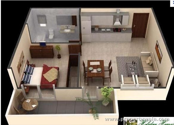 1 bed apt cabins cottages tiny houses and trailers for Single bedroom apartment design