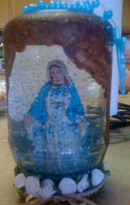 """I am SO excited to share this cute and EASY   Mary craft!  Our Lady of Lourdes Miracle at the""""Grotto Globe.""""   You can make this for..."""
