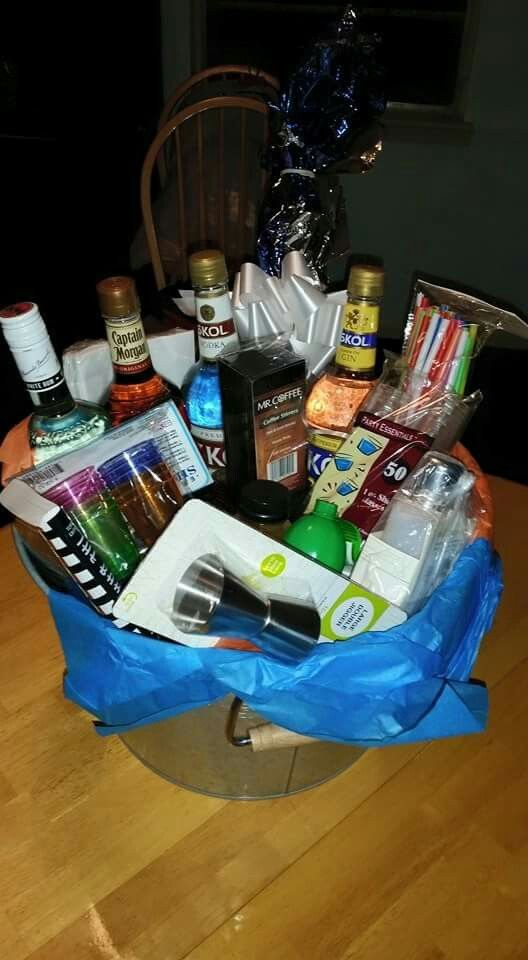Huge alcohol gift basket