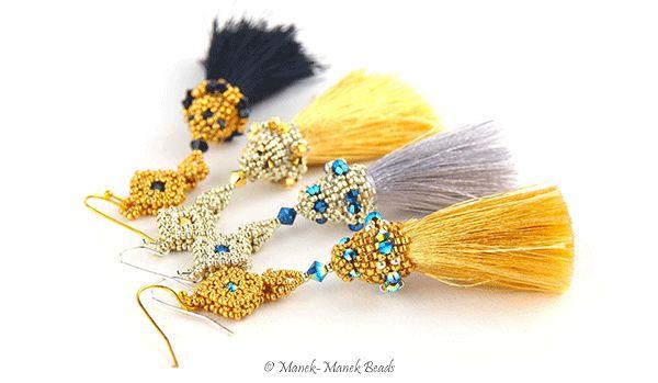 Arabesque Earrings : Manek-Manek Beads - Jewelry | Kits | Tutorials | Workshops
