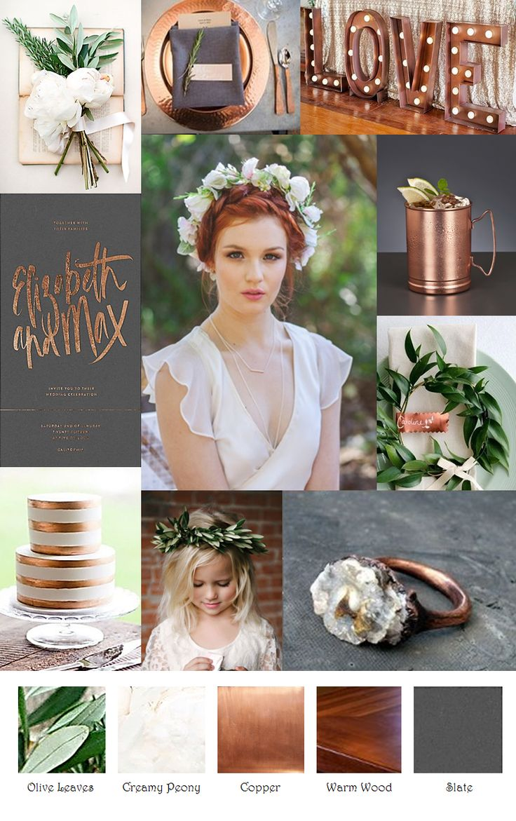 Copper Slate Cream Inspiration Board