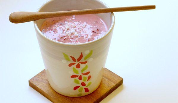 Meggyes-kókuszos joghurt | Étel, ital, kicsi Vú