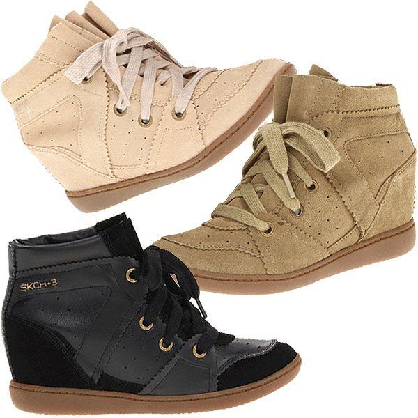 """Skechers Plus 3 """"High Fly"""" Wedge Sneakers"""