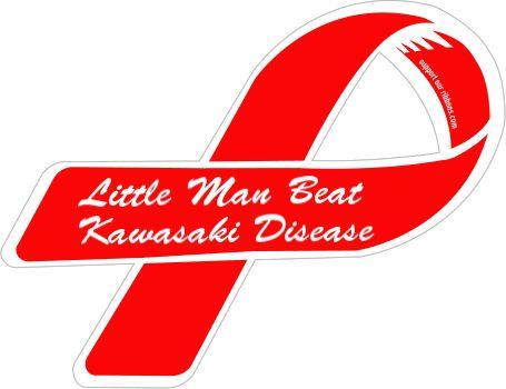 Custom Ribbon: Little Man Beat / Kawasaki Disease