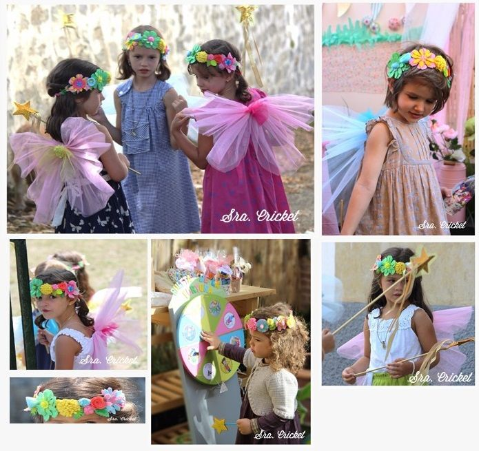 niñas celebrando cumpleaños HAdas Sra. Cricket