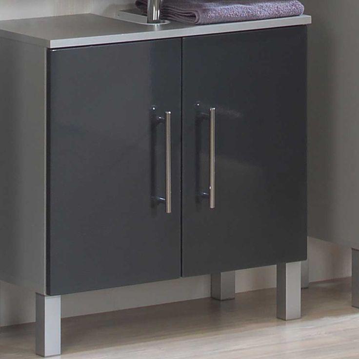 Waschbeckenunterschrank In Schwarz Grau Hochglanz Jetzt Bestellen Unter:  Https://moebel.