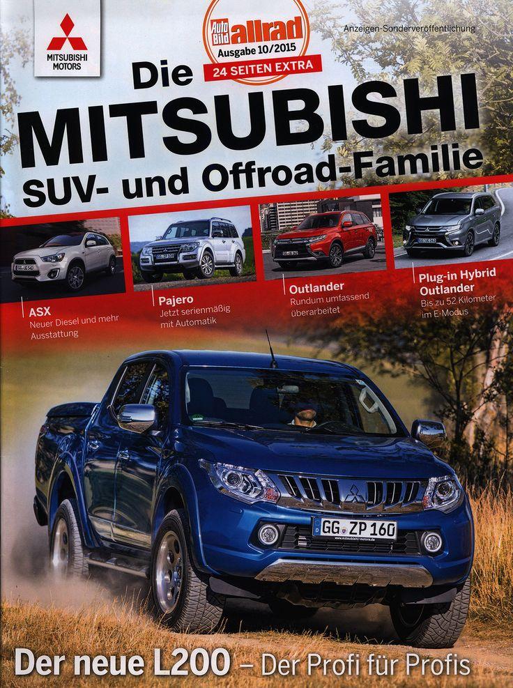 https://flic.kr/p/LMDTpS | Mitsubishi SUV- und Offroad-Familie, ASX, Pajero, Outlander, Plug-in Hybrid Outlander, L200;  AutoBild allrad 2015