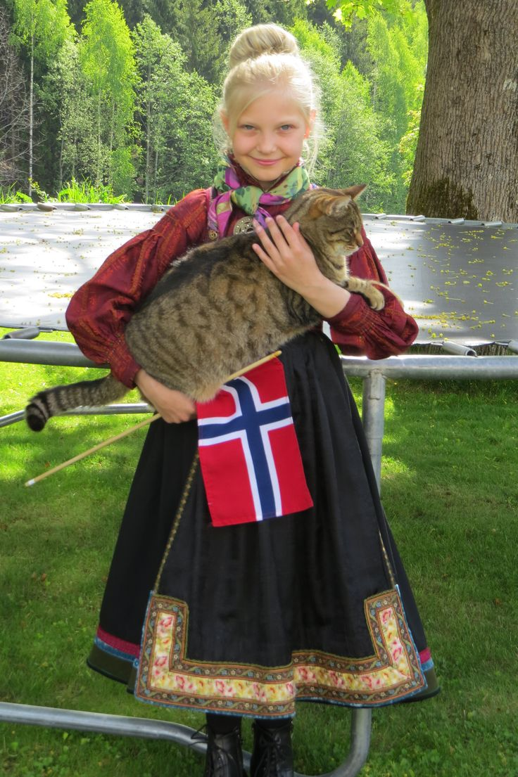 My daughter in beltestakk from Heddal, Telemark, Norway