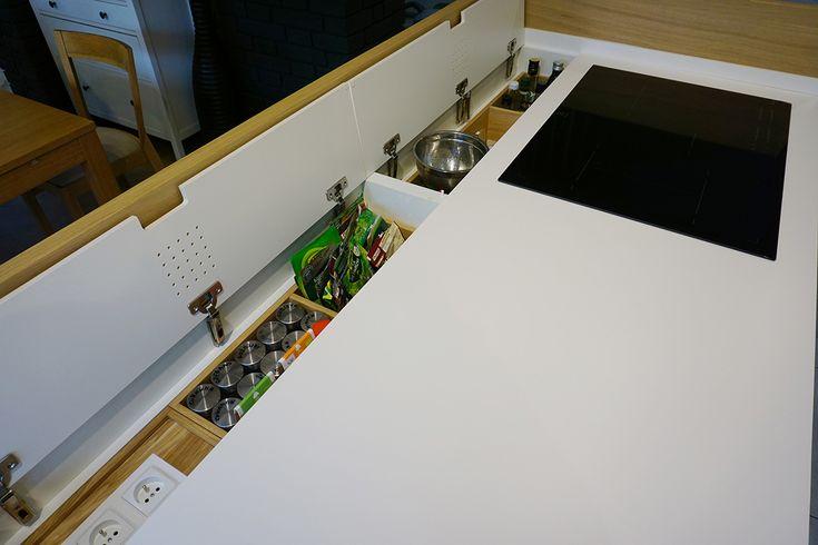 Custom-made SHELL kitchen by JANG. #furnituredesign #kitchendesign #interiordesign