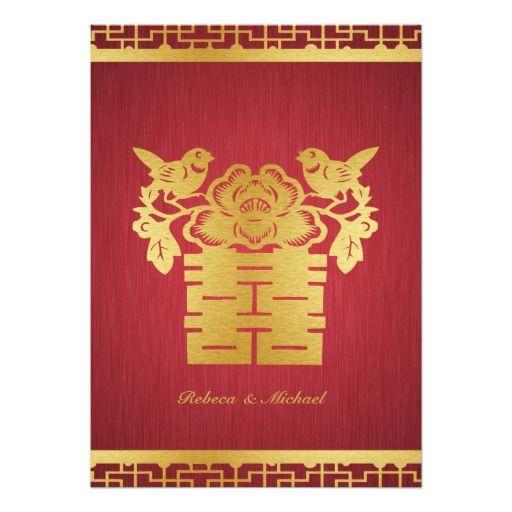 Asian style wedding invitations