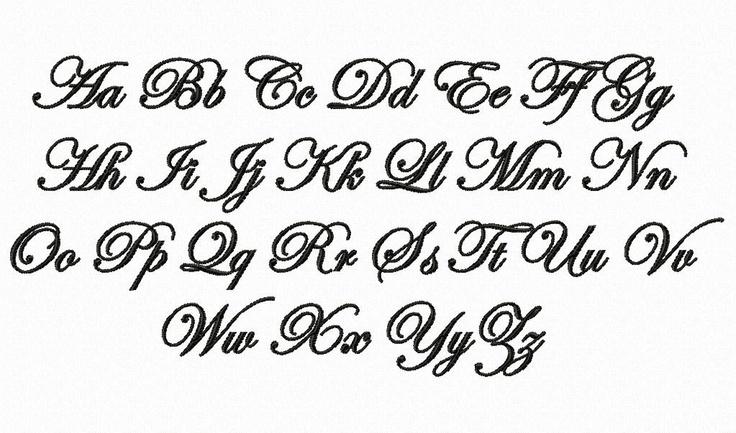 Edwardian Script Machine Embroidery Font Monogram Alphabet ...