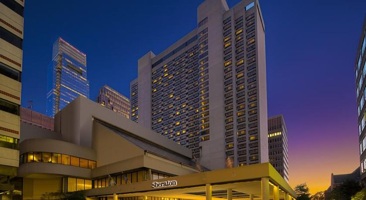Sheraton Philadelphia Downtown Hotel Philadelphia Located 2 blocks from the Pennsylvania Convention Center, this hotel is a 5-minute walk of Love Park. The hotel offers an indoor swimming pool and an on-site seafood restaurant.