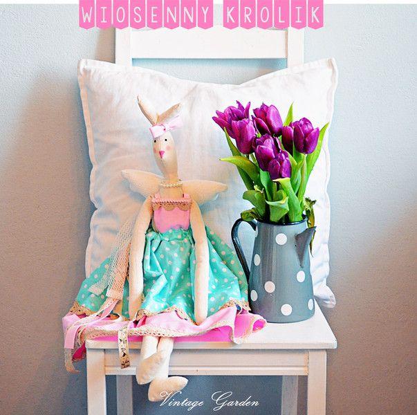 Wiosenny Królik Tilda *TILDA BUNNY* w Vintage Garden - ręcznie szyte niepowtarzalne lalki na DaWanda.com