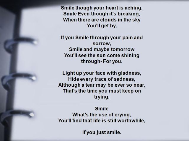 Smile lyrics by Charlie Chaplin, 1 meaning, official 2019 ...