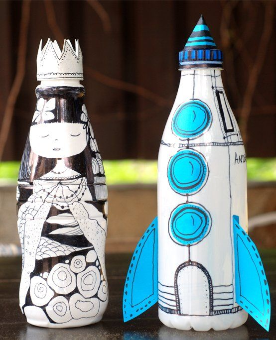 Water Rockets Made Out Of Soda Bottles: Make A Unique Piggy Bank Out Of A Plastic Bottle