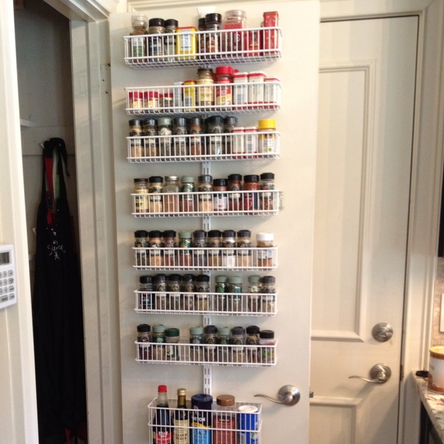 Pantry Door! Organized Thanks To The Container Store.
