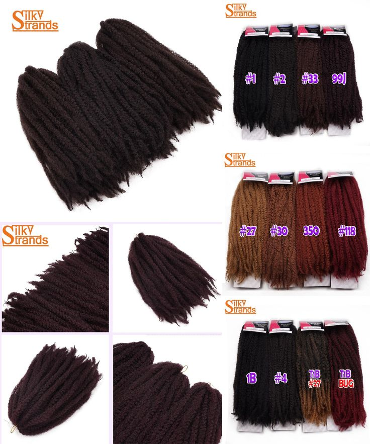 [Visit to Buy] Silky Strands 18inch Ombre Afro Twist Hair Marley Braids Crochet Synthetic Braids Hair Extensions Low Temperature Fiber #Advertisement