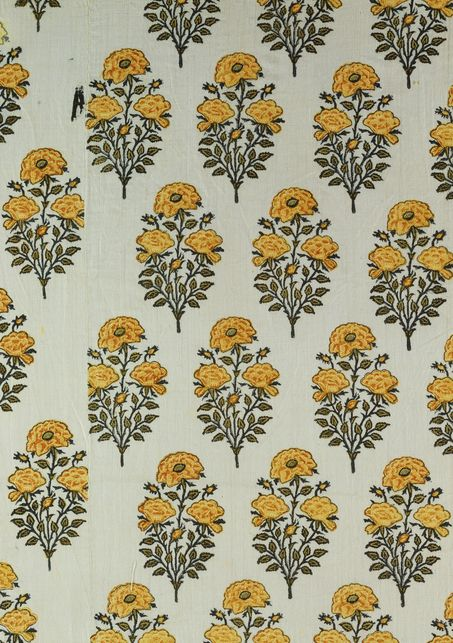 Textile. Printed cotton. Delhi, India, 18th century.