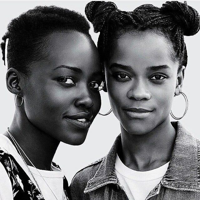 Didn't want to wait until Wednesday so here's an early #wcw post #lol.  Great women doing great things. Much love to these two #queens doing big things in #blackpanther and in so much more. #Lupita and #Letitia . #blackisbeautiful #blackqueens #blackandwhitephoto #blackpanthermovie #lupitanyongo #letitiawright #shuri #nakia - #wakanda #zamunda #africanart