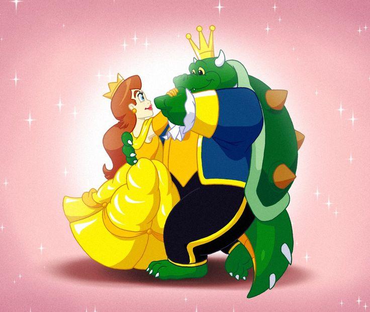 The Princess and the Beast by FantasyFlixArt.deviantart.com on @DeviantArt #beautyandthebeast #kingkoopa #nintendo #princesstoadstool #supermariobros May not be a tale as old as time, but...meh :)  King Koopa and Princess Toadstool (c) Nintendo and DHX Media